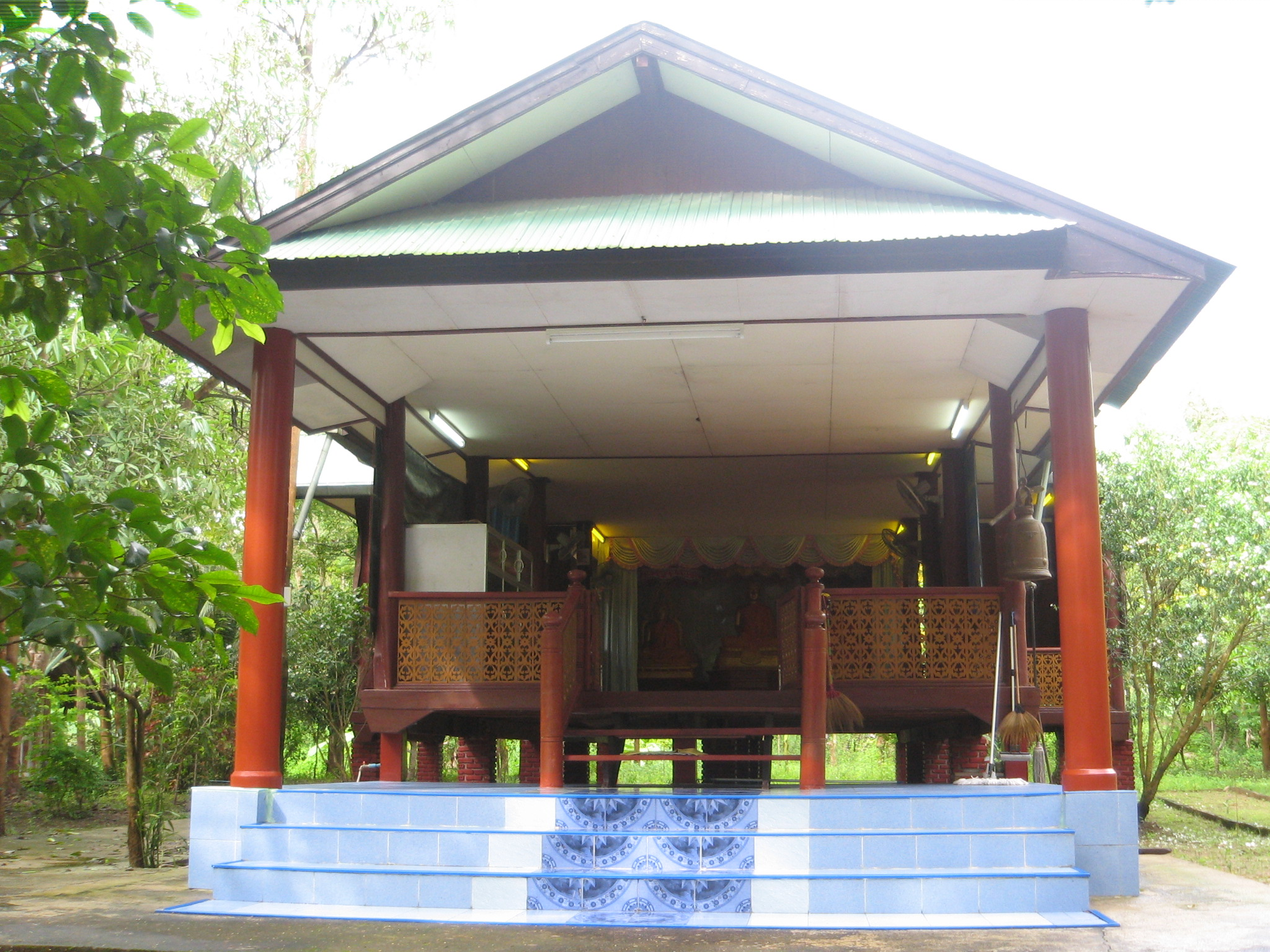 View of Dhammasala hall from outside