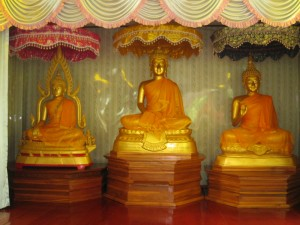 The 3 Buddhas at the Dhammasala Hall