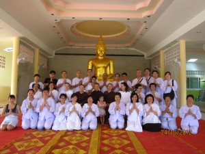 Group photo during Buddha Installation in 2012