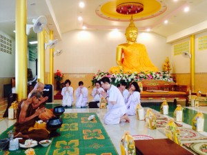 Offering Sanghadana to invited monks