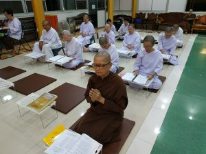 last morning chanting