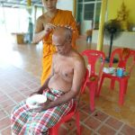 Hair shaving for Wesak day