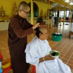 Hair shaving for Buddhist nuns